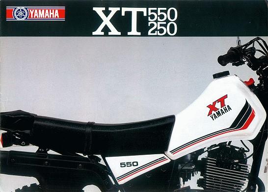 Prospekt XT 550, XT 250
