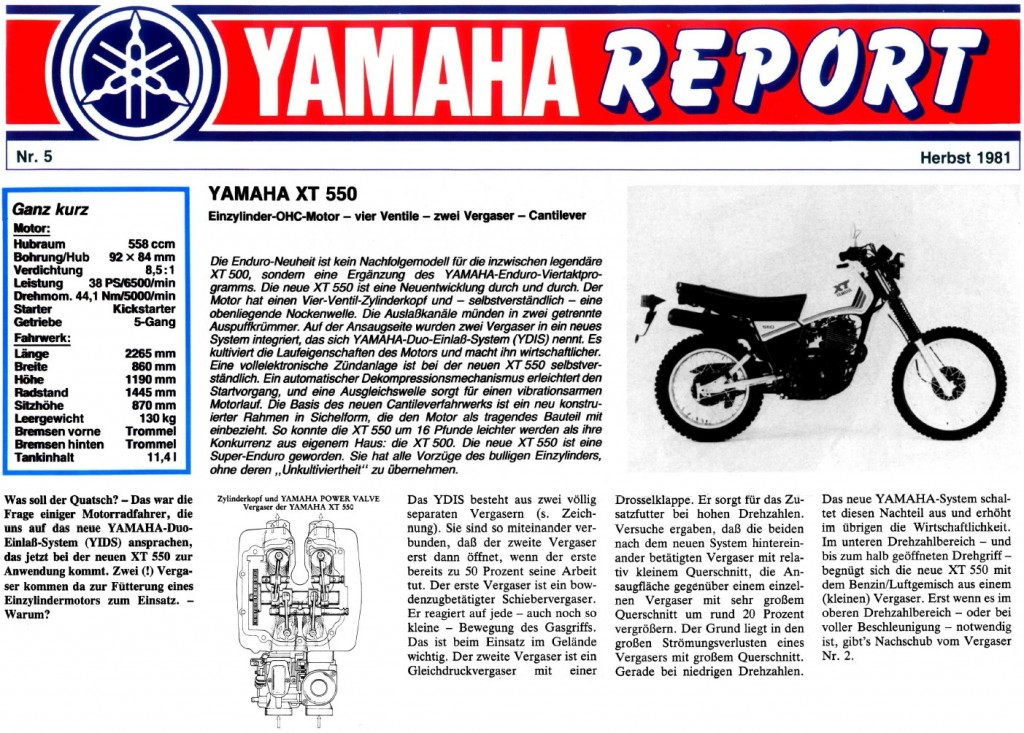 Yamaha-Report 05/81